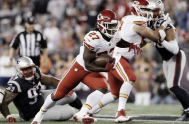Kareem Hunt recovered from an early mistake and took over the game | Source: David Butler II-USA TODAY Sports