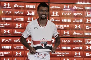 O jogador chega para compor o setor ofensivo (Foto: Érico Leonan/São Paulo FC)