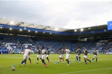 The Leicester City team return to play at the King Power Stadium | Credit: @LCFC