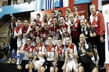Brasil Kirin festeja su título, Falcao ganó su novena Copa Liberatdores (Foto: A Dos Toques Futsal)