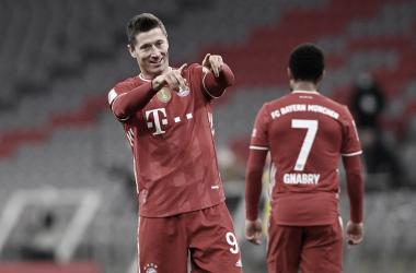 Lewandowski, decisivo con un hat-trick / FOTO: @FCBayern
