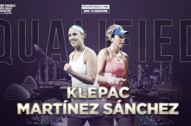 Andreja Klepac and Maria Jose Martinez Sanchez have qualified for Singapore for two consecutive years | Photo: WTA
