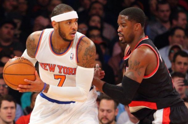 New York Knicks Continue Their Road Trip In Portland Against Trail Blazers.