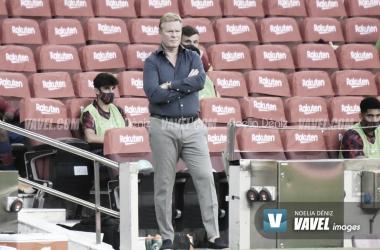 Koeman, esta temporada en el Camp Nou. Foto: Noelia Déniz.