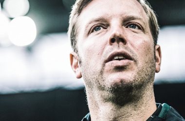 Kohfeldt, el flamante técnico del Wolfsburgo / foto: @Vfl_Wolfsburg