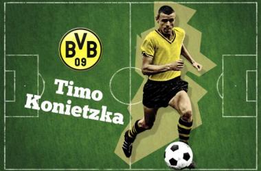 Konietzka, ídolo do Borussia Dortmund e autor do primeiro gol da história da Bundesliga (Arte: Rafael Mateus/VAVEL Brasil)