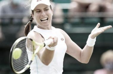 Johanna Konta venceu Nina Stojanovic no WTA 250 de Nottingham 2021 (WTA / Divulgação)
