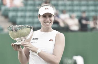 Johanna Konta venceu Zhang Shuai no WTA 250 de Nottingham 2021 (WTA / Divulgação)