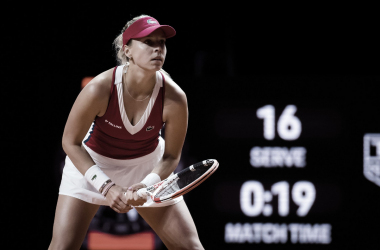Anett Kontaveit venceu Sofia Kenin noWTA 500 de Stuttgart 2021(WTA / Divulgação)