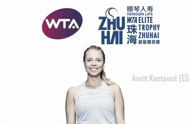 Anett Kontaveit will look to cause some waves in Zhuhai | Edit: Don Han