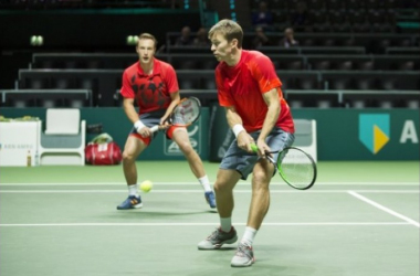 Henri Kontinen (left) and John Peers crafted one of two seeded upsets in Rotterdam/Photo: ABN Amr World Tennis Tournament