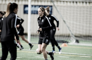 Kristen McNabb in preseason with the Reign | Source: Seattle Reign FC Twitter - @ReignFC