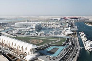Vista aérea do Circuito de Yas Marina
