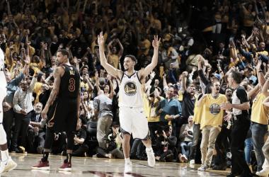 Klay Thompson. Fonte: Golden State Warriors/Twitter
