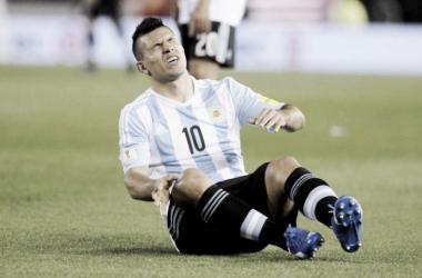 El Kun se había lesionado en el 1° partido de Eliminatorias, ante Ecuador (Foto: Taringa).