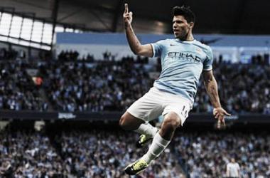 Aguero festeja el segundo gol del Manchester City   EPA