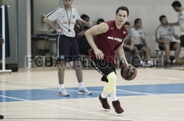 Kuric duante su primer entrenamiento con el Barcelonja. | foto: FC Barcelona
