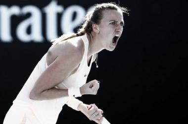 Petra Kvitova celebrando un punto | Foto: Zimbio