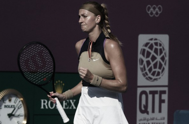 Petra Kvitová venceu Anett Kontaveit no Qatar Open 2021 (WTA / Divulgação)
