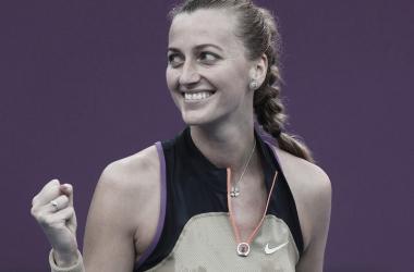 Petra Kvitová venceu Jessica Pegula no Qatar Open 2021 (WTA / Divulgação)