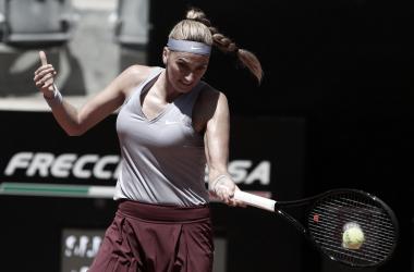 Petra Kvitová venceu Magda Linette no WTA 1000 de Roma 2021 (WTA / Divulgação)