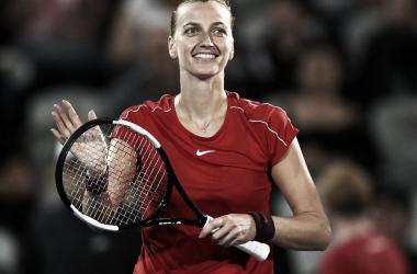 Kvitova durante su triunfo ante Bartey. / Foto: www.wtatennis.com