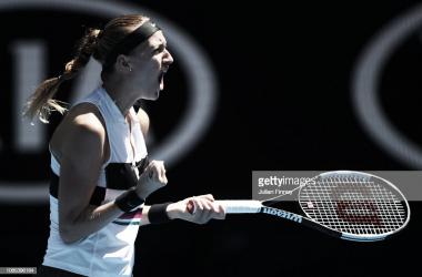 Kvitova celebra su victoria. Foto: Getty Images.