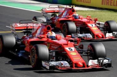 Les Ferrari ont dominé ce week-end hongrois.   Photo : lexpress.fr