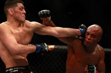 Nick Diaz and Anderson Silva go toe to toe at UFC 183 / LATimes