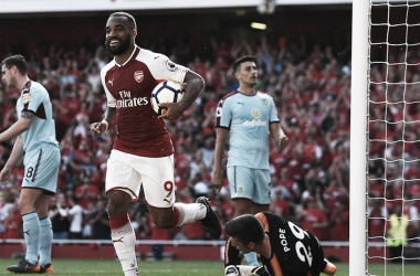 Lacazette celebra el gol | Fotografía: Arsenal