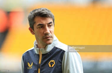 Bruno Lage earned his first win at Wolves boss with a 4-0 thumping at Nottingham Forest.(Photo by David Rogers/Getty Images)