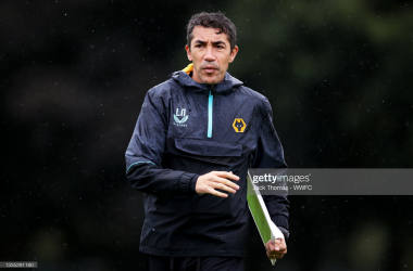 Bruno Lage at Wolves training.(Photo by Jack Thomas - WWFC/Wolves via Getty Images)