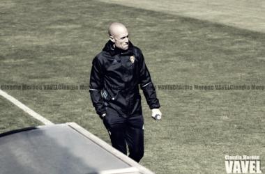 César Láinez habló tras la derrota del Deportivo Aragón por 1-4 en la Ciudad Deportiva | Foto: Claudia Moreno (VAVEL)