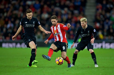 Adam Lallana and Alberto Moreno in action for Liverpool against Sunderland (The Anfield Wrap)