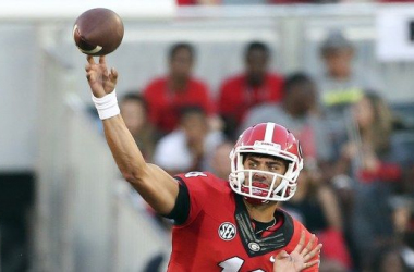Greyson Lambert set a record for single-game completion percentage in UGA's 52-20 win Saturday night - AP Photo