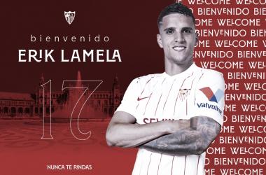 Bienvenida de Lamela / sevillafc.es
