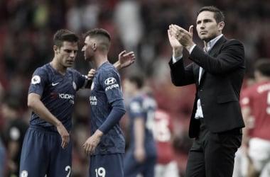 Lampard aplaudiendo a la afición tras la derrota frente al Manchester United / Foto: Leicester City