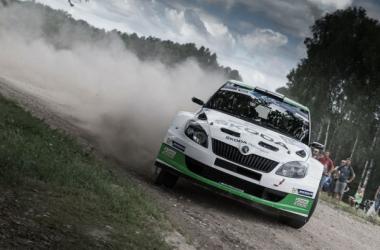 E. Lappi / J.Ferm (Skoda Fabia S2000)  Campeones ERC 2014 (foto: Skoda Motorsport)