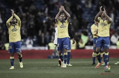 Las Palmas marca tres goles en el Bernabéu por primera vez en su historia