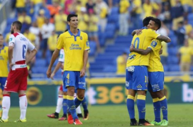 Los canarios golearon al Granada en la última visita nazarí al feudo amarillo. Foto: LFP