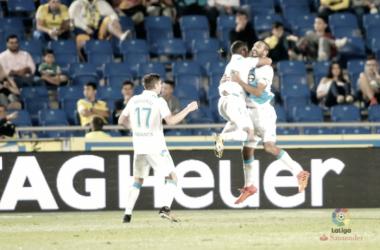 Celso Borges celebra su doblete // Liga Santander