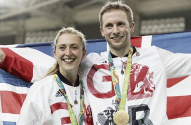 Laura Trott and Jason Kenny make history after winning gold in the omnium and individual sprint. (Image: PA)