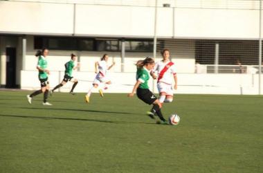 Laurina fue titular en la victoria del Oviedo Moderno en Vallecas. | Foto: Oviedo Moderno CF.