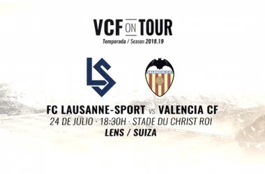 El Valencia CF se enfrenta a su segundo partido de preparación, en este caso frente al FC Lausanne. Fuente: Valencia CF.