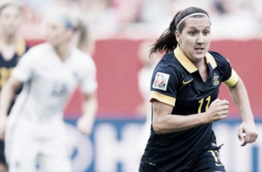 Lisa De Vanna featuring for Australia in 2015 (Orlandocitysc.com)