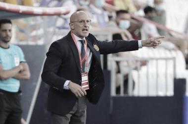 Luis de la Fuente durante un enuentro. // Imagen: Diario Sport, Agencia EFE.