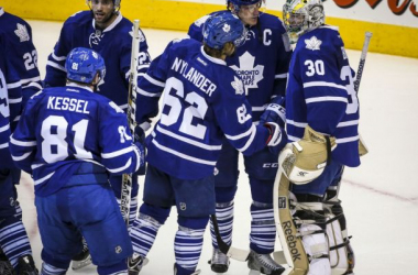 The Leafs after a pre-season game. Courtesy: Toronto Star