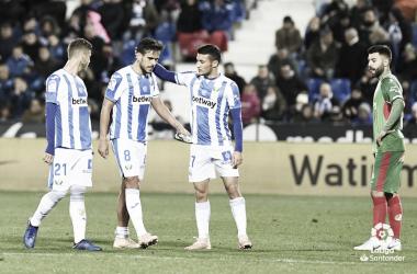 El Leganés ante el Deportivo Alavés en su último partido // Foto: La Liga