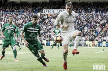 Bale controlando el esférico ante el Leganés / Daniel Nieto (VAVEL)