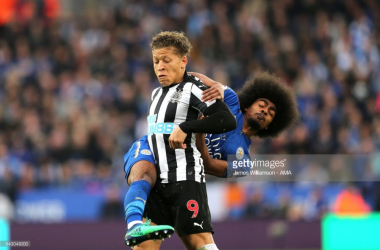 Hamza Choudhury battles with Dwight Gayle in last weeks defeat